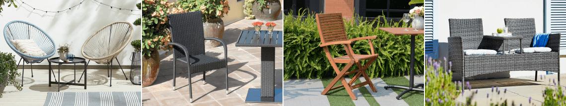 Chaises et bancs de patio