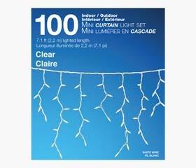 MINI Outdoor Curtain Lights (100 Lights)