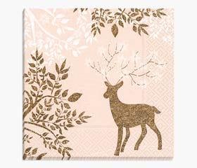 Christmas napkins golden deer