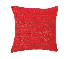 soft red decorative cushion