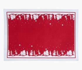 festive landscape placemat red