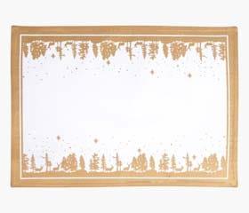 festive landscape placemat gold