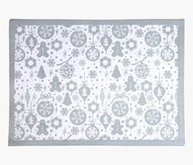 tree decorations placemat silver