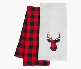 BUFFALO CHECK Tea Towels (Deer)