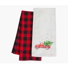 BUFFALO CHECK Tea Towels (Vintage Truck)