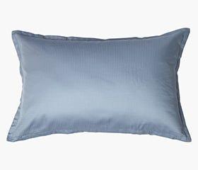 INGEBORG 100% Cotton Sateen Pillowcase, Blue Dobby