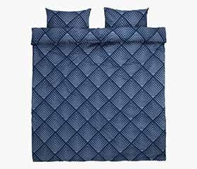 NOVA Blue Duvet Cover Set (Queen)