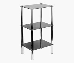 BEREZ Medium 3 Tier Shelf - Black
