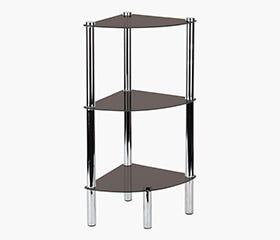 BENNY 3 Tier Corner Glass Shelf - Clear