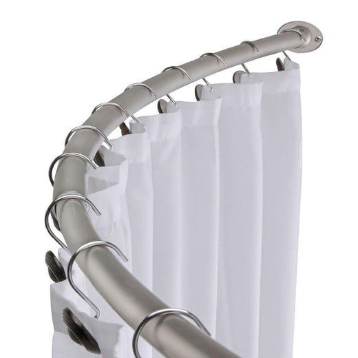 YLVA Curved Shower Curtain Rod (CHROME)