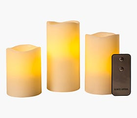 FLAMELESS Candle 3pc Set