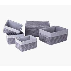 FRANS Grey Storage Basket (Set of 5)