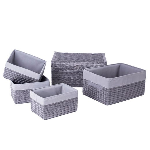 FRANS Grey Storage Basket (Set of 5)