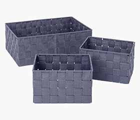 ALDIS Black Storage Basket (Set of 3)