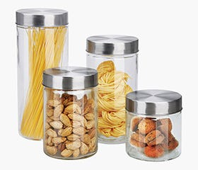 HOME BASICS Cannister Set 4