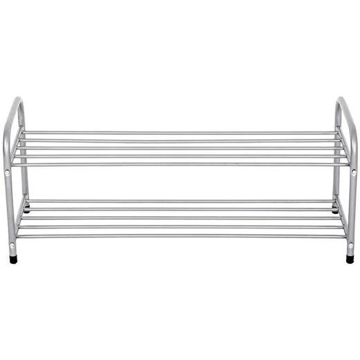 AKSEL 2 Tier Shoe Rack (Grey)