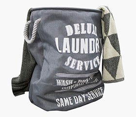 DELUXE Laundry Basket (Grey)