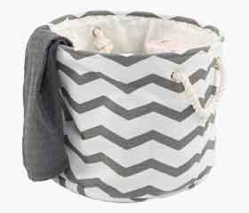 BRUSE Laundry Hamper, Zigzag Design