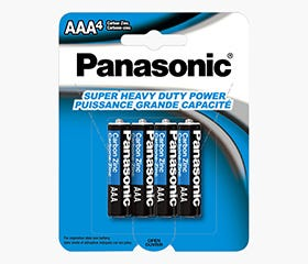 PANASONIC AAA Super HD Battery (4Pk)