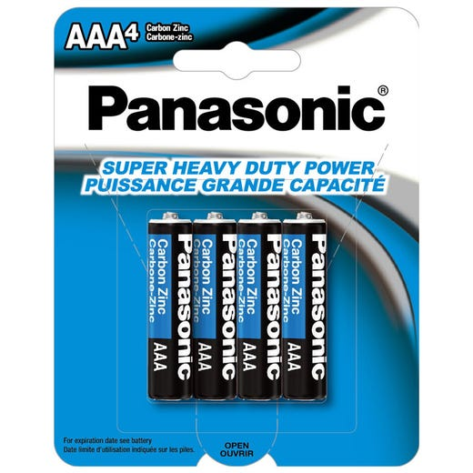 Piles PANASONIC AAA Puissance GC (Pqt. de 4)