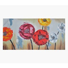 FLOWER FIELD Oil canvas Painting that brightens any room.