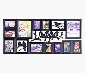 CERVANTES 15 piece Hanging Collage Frame (Black)