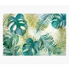 golden green leaf canvas print