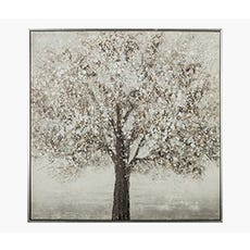 HANDPAINT Silver Tree