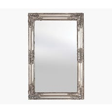 ANTIQUE Wooden Frame Mirror (Silver)