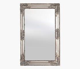 ANTIQUE Wooden Frame Mirror (Silver)