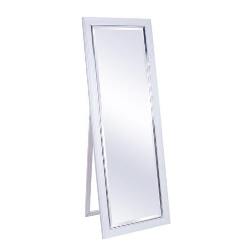 TRYGGVI Standing Mirror (White)