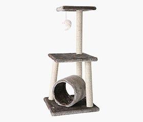 PLAYPET 2-TIER CAT PLAY CENTRE
