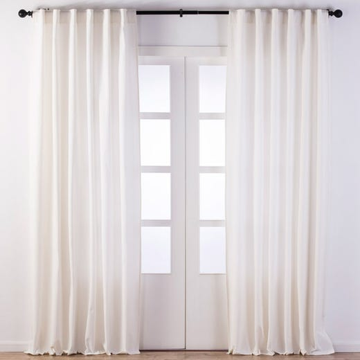 TILDA Solid Printed Polycotton Curtain (White)