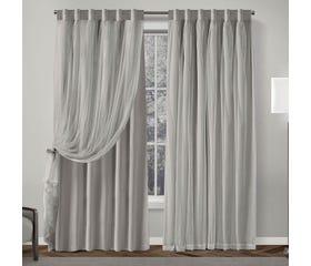 CHARLOTTE Room Darkening Curtain Panel 132x213cm (Light Grey)