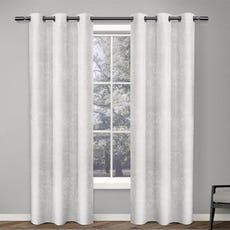 ANTIQUE SHANTUNG Room Darkening Curtain (White)