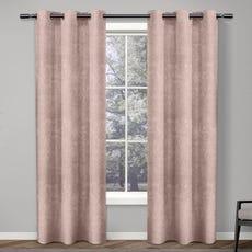 ANTIQUE SHANTUNG Room Darkening Curtain (Blush)
