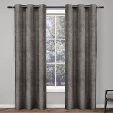 ANTIQUE SHANTUNG Room Darkening Curtain (Black Pearl)
