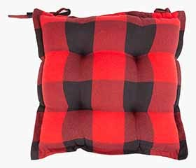 BUFFALO CHECK Seat Cushion (Black/Red)