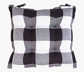 BUFFALO CHECK Seat Cushion (Black/White)