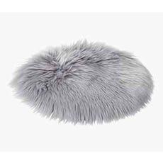 TAKS Faux Fur Seat Cushion (Grey)