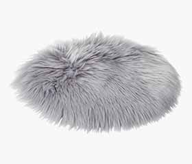 TAKS Faux Fur Seat Cushion (Grey)