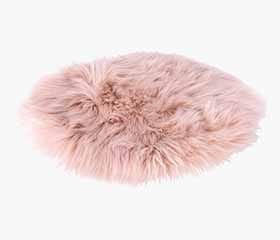TAKS Faux Fur Seat Cushion (Rose)