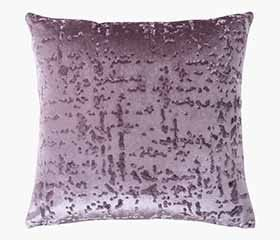 CELINA Embossed Throw Pillow 45x45cm (Purple)