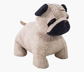 HEDENVI PUG Dog Door Stopper (Beige)
