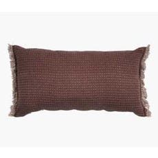 OXEL throw pillow burgundy