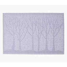 tree embossed placemat silver