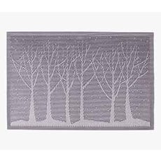 tree embossed placemat taupe