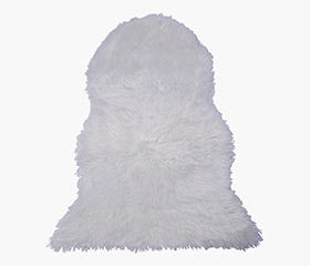 LINA Faux Fur Rug (White)