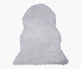 LINA Faux Fur Rug (White)