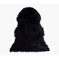 LINA Faux Fur Rug (Black)